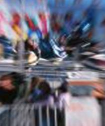Blurred image of busy shopping centre