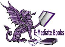 dragon logo for E-Mediate Books.